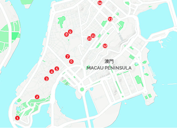 Churches in Macau Peninsula